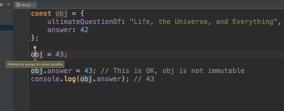 IntelliJ giving a heads up