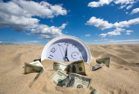 Save time and money stock image